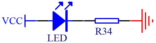 图2-4 led 小灯电路(一)