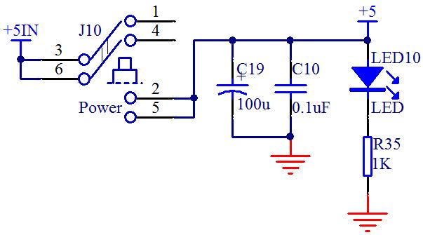 图 2-5  USB 供电电路