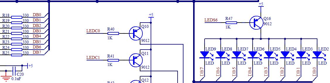 图3-11 led 电路图(一)