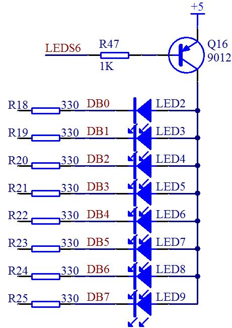 图 3-12  LED 电路图(二)