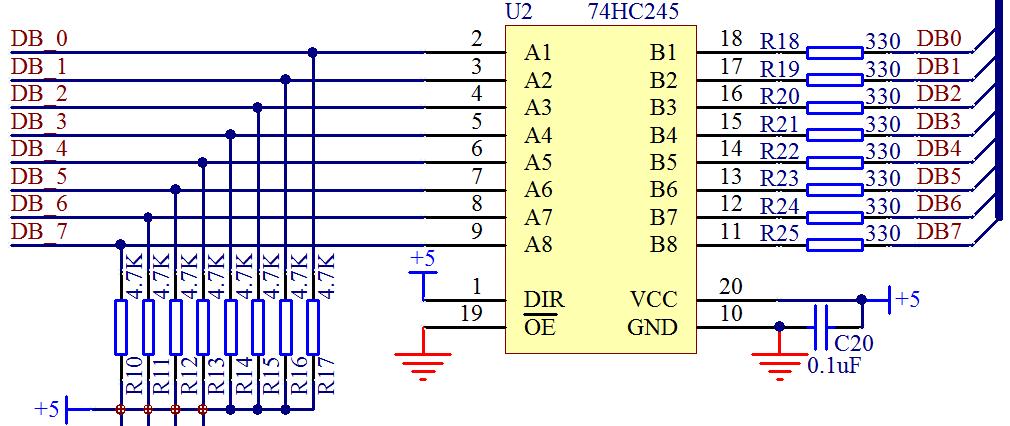 图 3-13  74HC245 功能图
